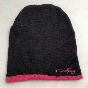 Oakley Accessories - Oakley black pink knit slouchy beanie hat ba4675faf937